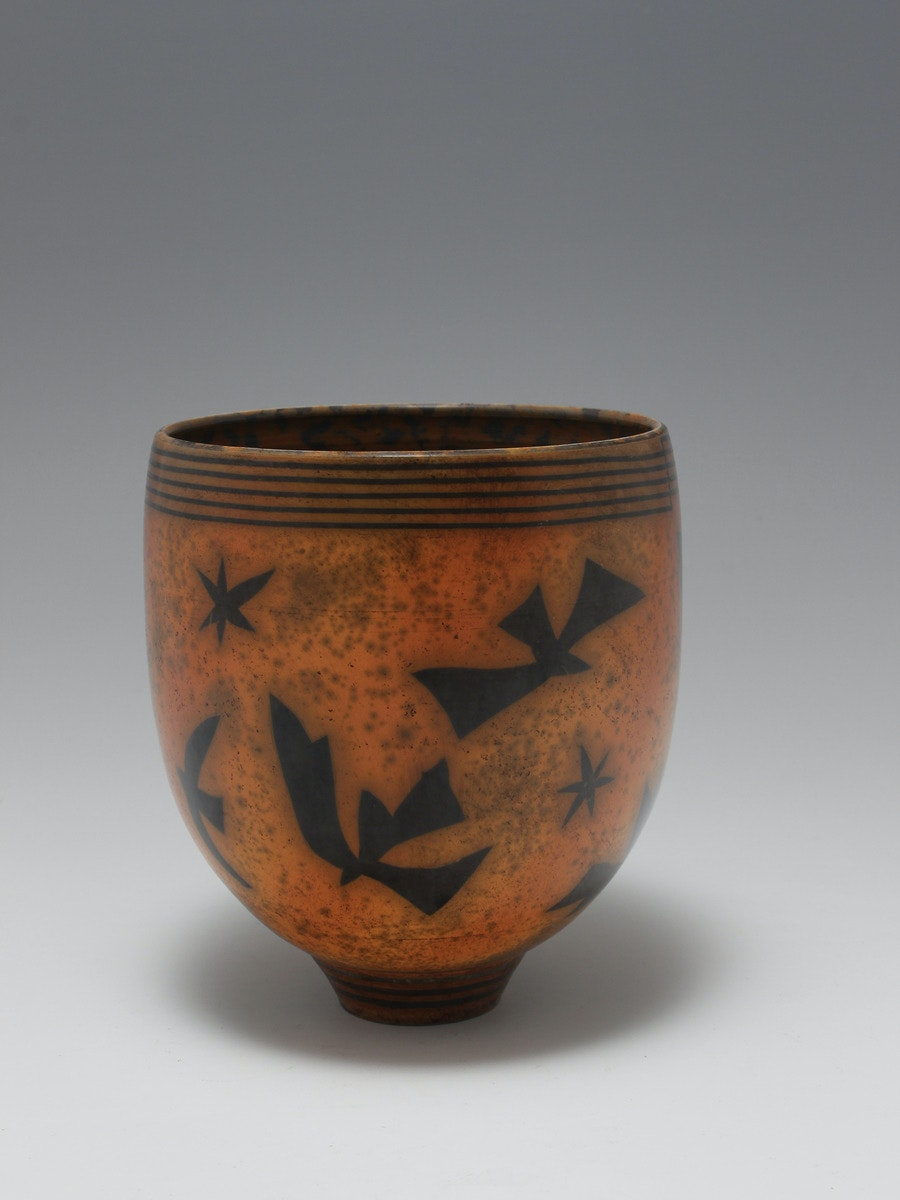 Terra-sigillata Bowl Form. Height: 14 cm Price in GBP: £500.00 Paper shapes and stars