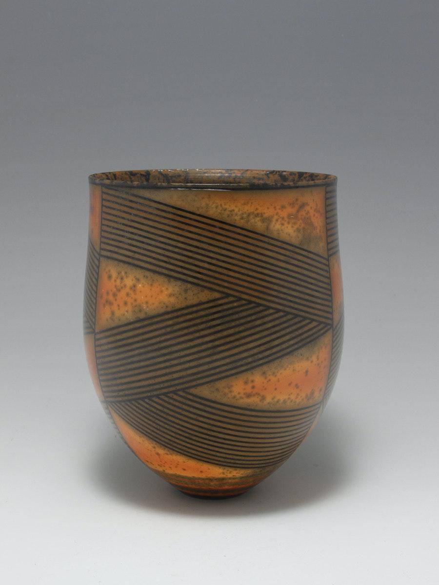 Terra-sigillata Vessel Form. Height: 18 cm. Price in GBP: £750.00 Folded lines.