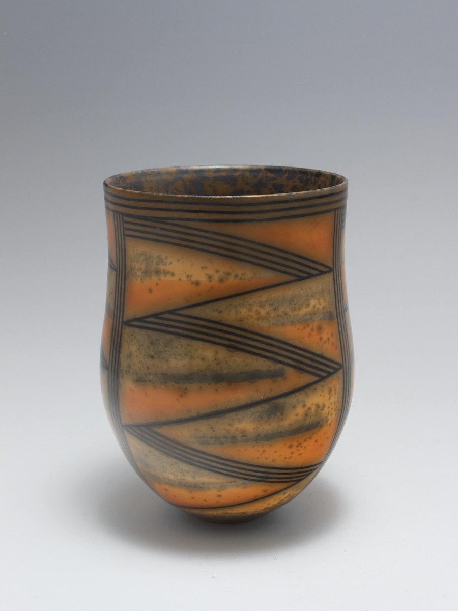 Terra-sigillata Vessel Form. Height: 17 cm. Price: GBP. £650.00 Rhythm defines a landscape form.