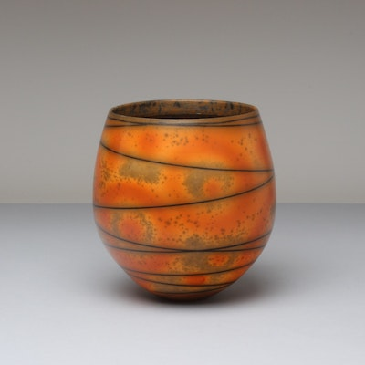 Terra-sigillata Bowl Form 'Winding Line'.  Mottled interior. Height: 14 cm. Price in GBP: SOLD