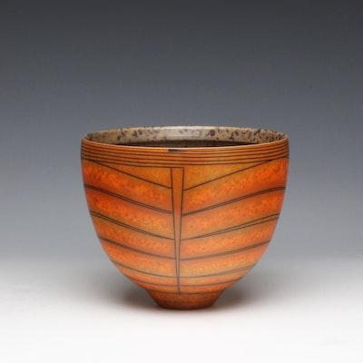 Terra-sigillata bowl with mottled interior. Height:   16 cm. Diameter: 19 cm.  Price in GBP: £600.00