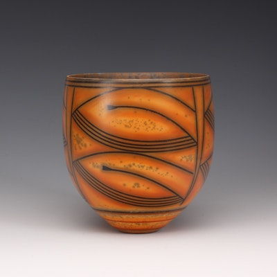 DR/B2 Terra-sigillata Bowl, mottled interior. Height: 12 cm. Price in GBP: £450.00